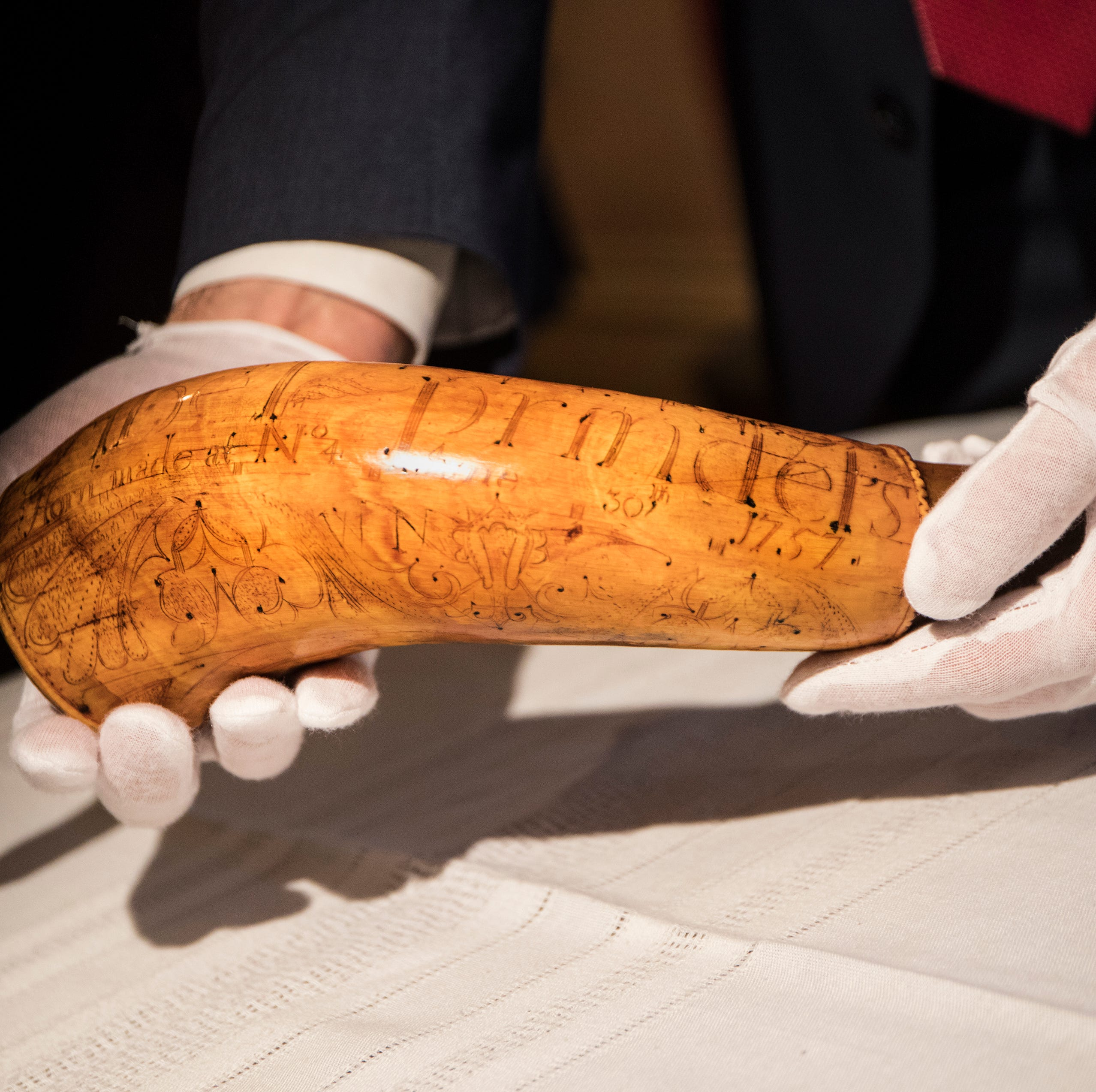 A colonial-era powder horn was stolen in 1952. A Port Huron native restarted the search.