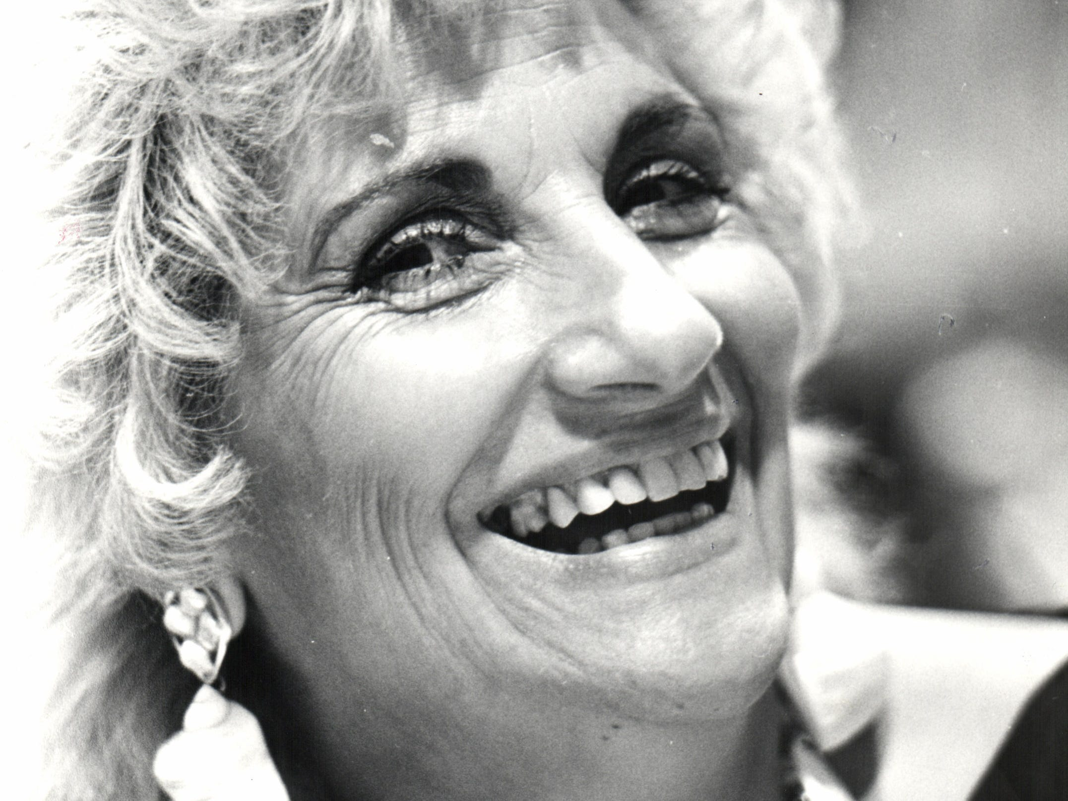 Olga Loizon, restaurateur and founder of Olga's Kitchen, photographed in 1985.