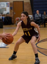 Samantha Dorn scored 18 points in Riverview's win over Grosse Ile.