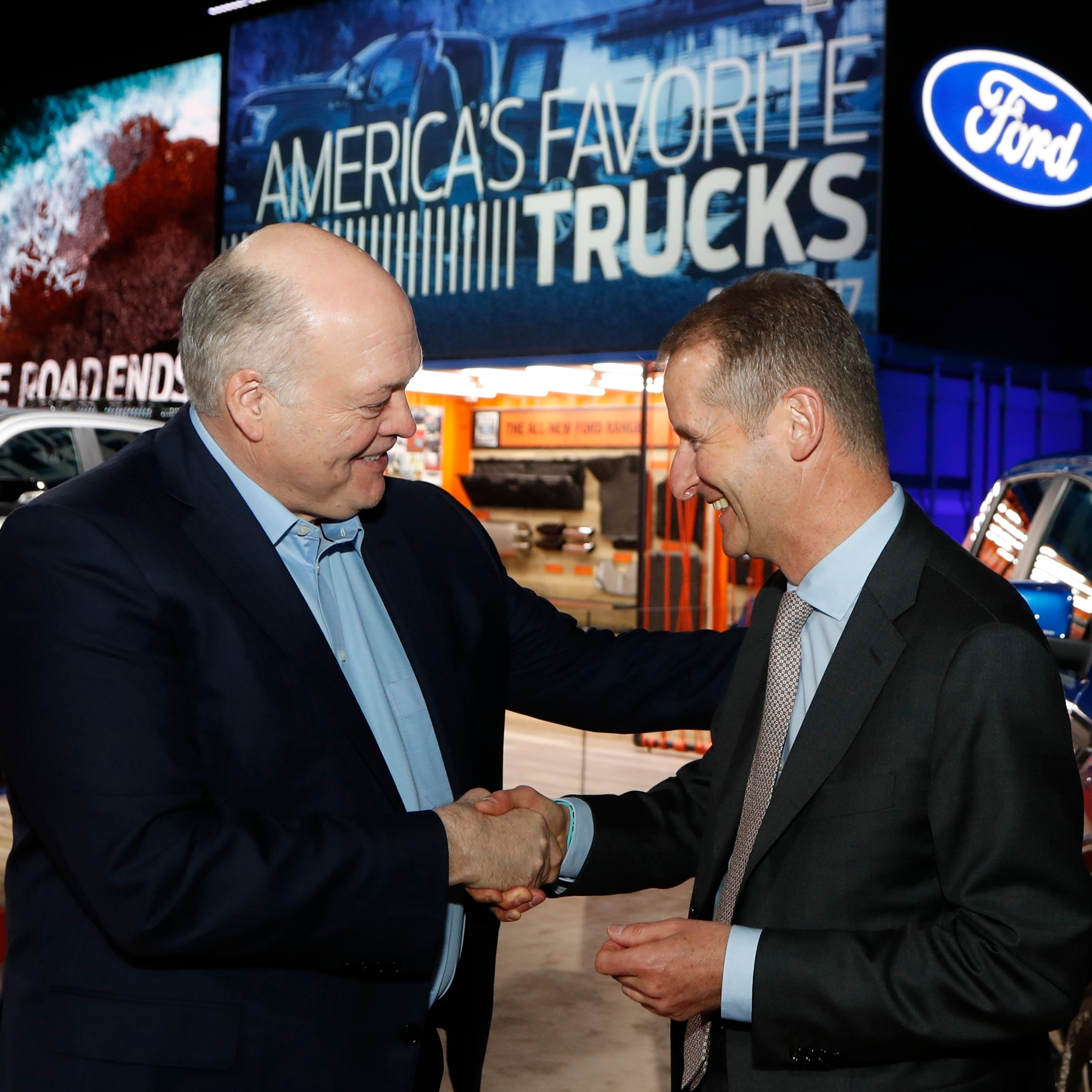 Ford chief reassures workers about VW partnership to build pickups, vans