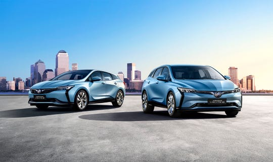 These are Buick VELITE 6 electric vehicles.