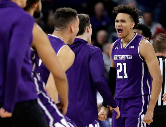Northwestern's A.J. Turner is happy to be playing in the Big Ten, where his family can make the drive to watch him play.