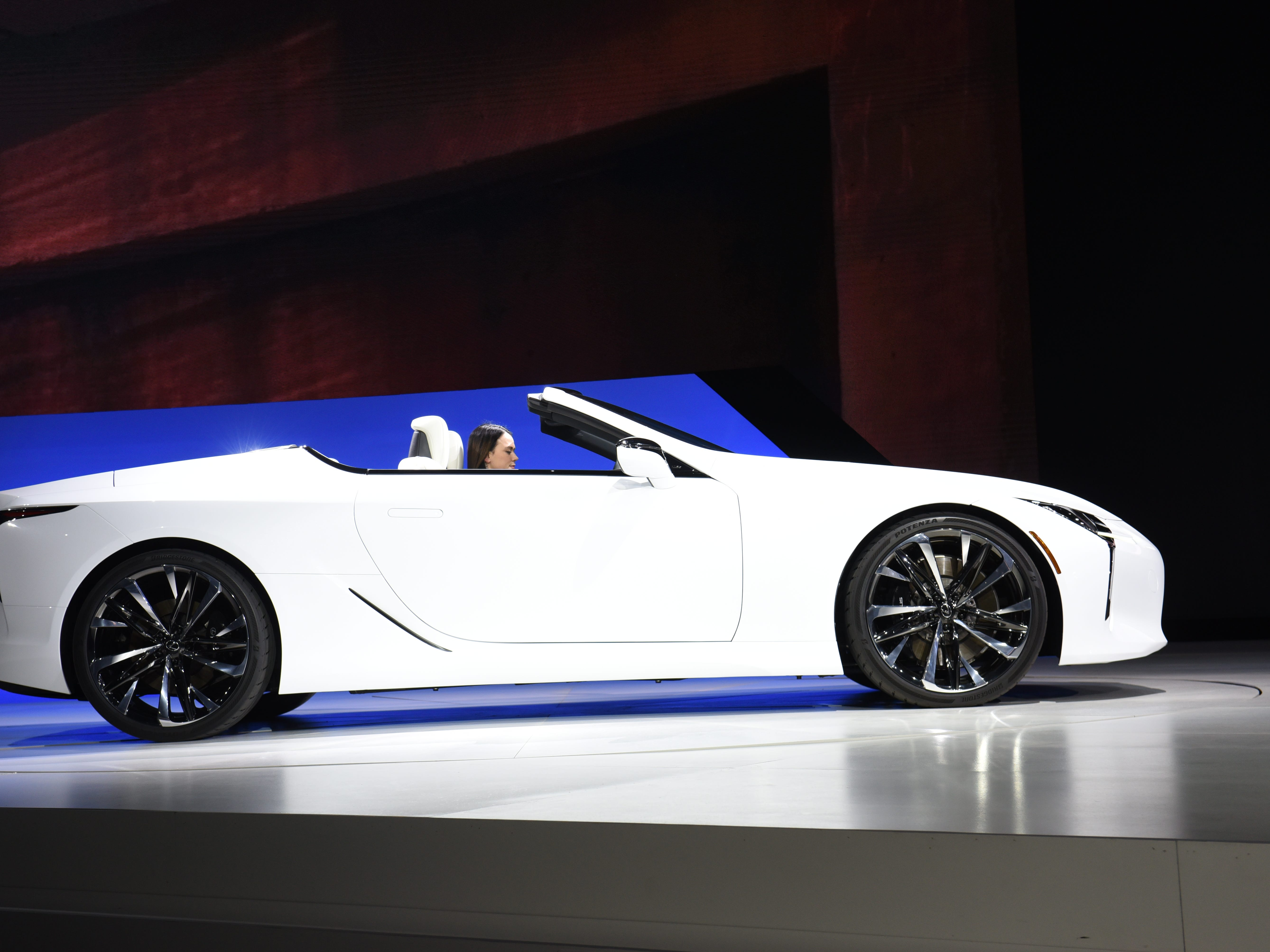 This is the Lexus LC Convertible concept.