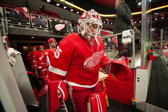 Red Wings goalie Jimmy Howard