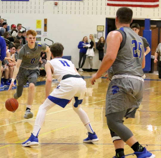 Horseheads was a 90-84 winner over Maine-Endwell in overtime in boys basketball Jan. 14, 2019 at Horseheads Middle School.