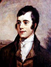 Scottish poet Robert Burns