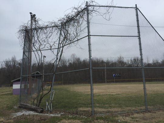 A softball diamond on University of Evansville-owned land on Division Street has seen better days. UE plans to sell the property.