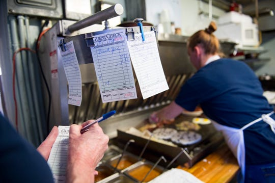 Tickets wait to be filled at Mountain Cafe on Tuesday, January 15, 2019. The breakfast and lunch spot is entering its 45th year in Old Town.