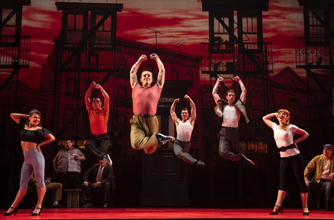 """A scene from the national tour of """"A Bronx Tale."""" Broadway Palm is staging its own production in Fort Myers."""
