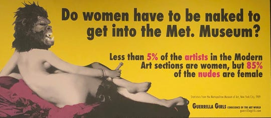 One of the Guerrilla Girls' most famous posters criticized The Metropolitan Museum of Art for its lack of diversity in 1989.