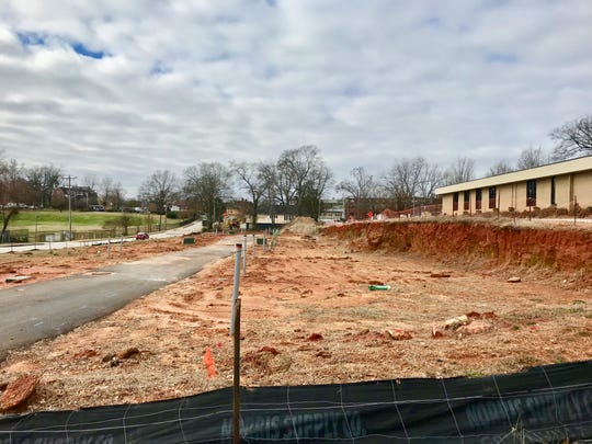 Just a block off of Augusta Road, the Augusta Row townhomes are being built near the corner of Claussen and Thruston. Jan. 15, 2019