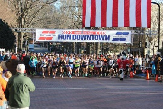 The Greenville News Run Downtown 5K will be held Saturday.