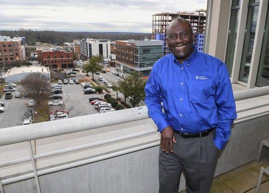 Duke Energy's SC CEO Kodwo Ghartey-Tagoe in the Duke Energy downtown Greenville headquarters Tuesday, January 15, 2019.