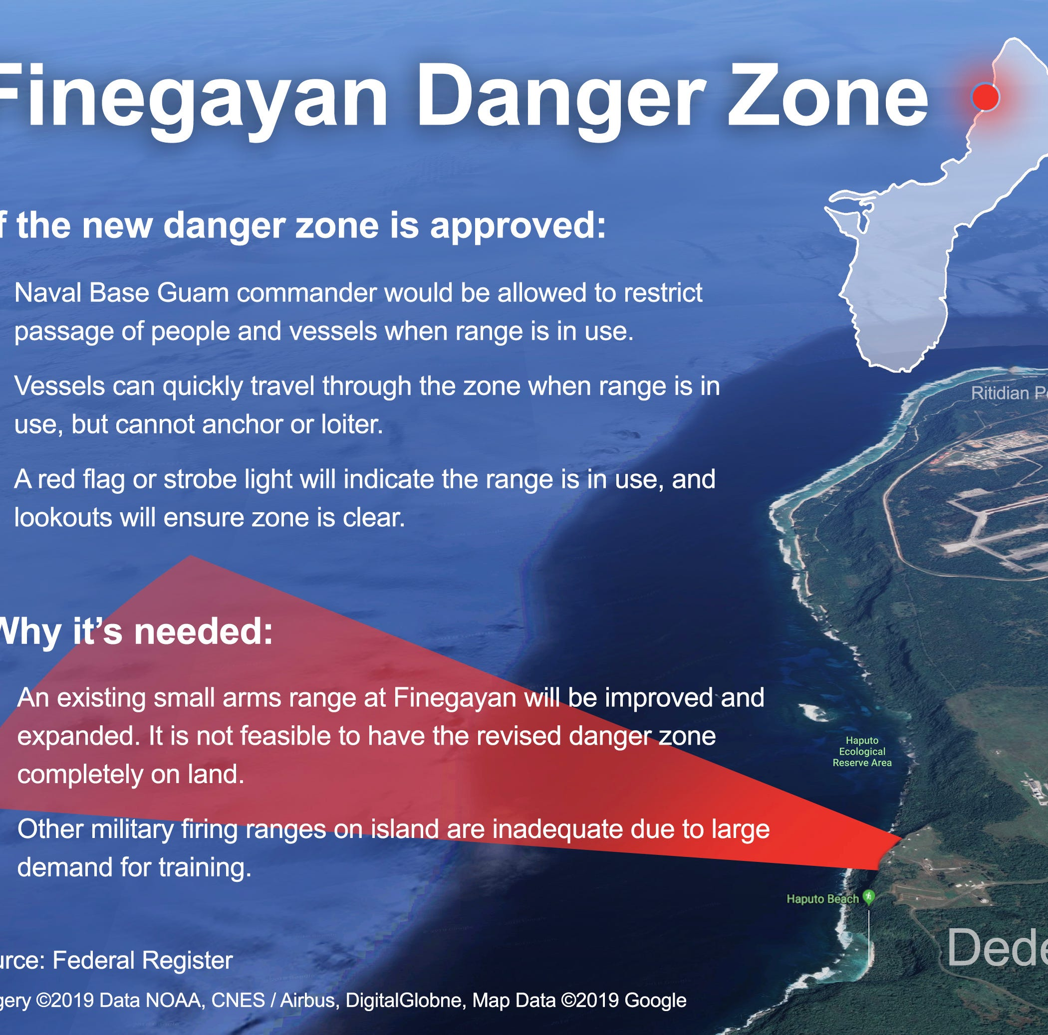 Army Corps of Engineers have reviewed Finegayan danger zone comments, await Navy input