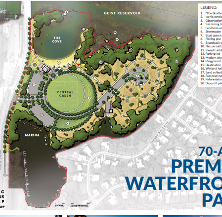 Here's why planned Geist public park and beach will likely take 5 years to finish