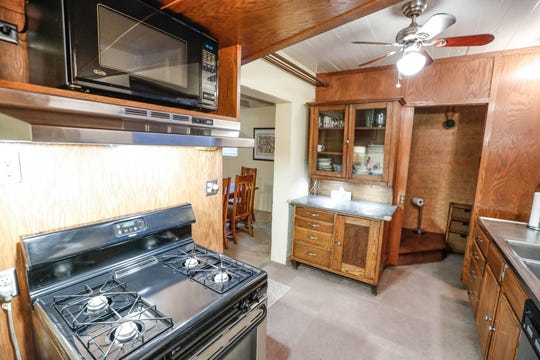 A basement apartment features a full kitchen and shower inside a former IFD Firehouse turned residence, located at 636 E. 11th Street, now on the market for $750,00 on Tuesday, Jan. 15, 2019. The 'Hot Property' features 6447 sqft, a four car heated garage, apartment in the basement, four bedrooms and five and a  half bathrooms.
