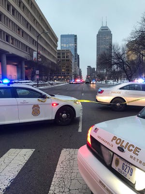 A male died of his injuries after he was shot in the vicinity of the intersection of Pennsylvania and Michigan streets Tuesday evening.