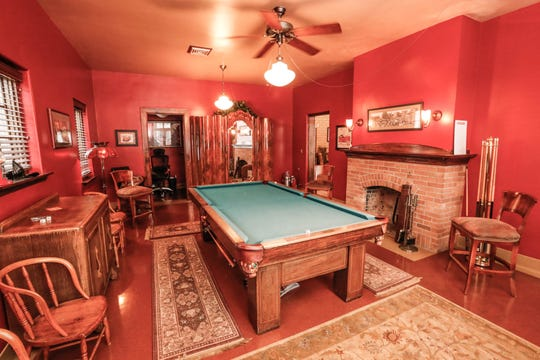 A game room is shown here inside a former IFD Firehouse turned residence, located at 636 E. 11th Street, now on the market for $750,00 on Tuesday, Jan. 15, 2019. The 'Hot Property' features 6447 sqft, a four car heated garage, apartment in the basement, four bedrooms and five and a  half bathrooms.