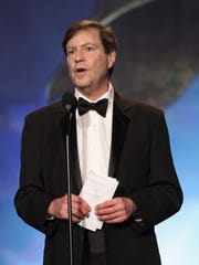 LOS ANGELES, CA - FEBRUARY 17:  Writer John Falsey accepts The Paddy Chayefsky Laurel Award for Television Writing Achievement onstage at the 2013 WGAw Writers Guild Awards at JW Marriott Los Angeles at L.A. LIVE on February 17, 2013 in Los Angeles, California.