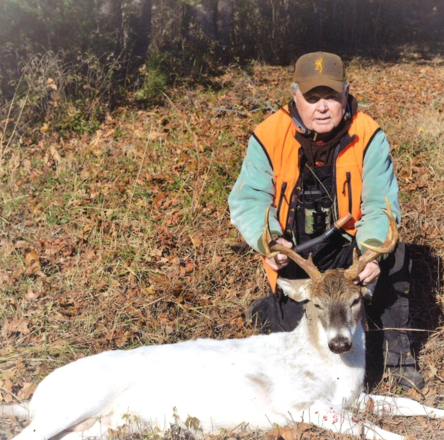 Madison County man takes nearly all-white deer