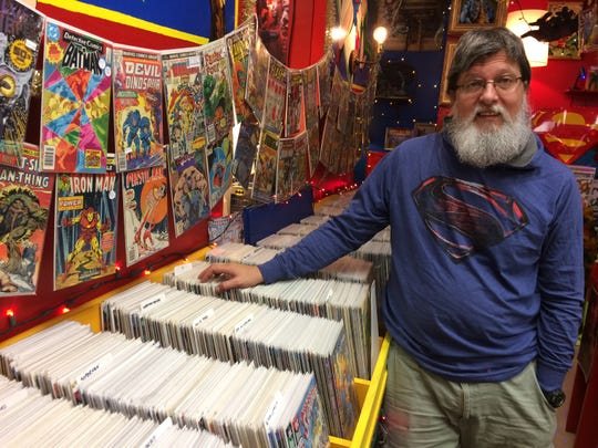 Randy Cross, a 1987 Powell High grad, has a large inventory centered around the comic book world.