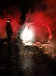 A car that was stolen during a reported carjacking in Knoxville on Jan. 14 was found burning hours later, police said.