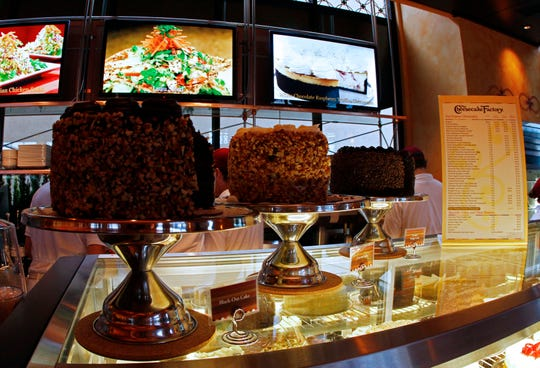 Deserts await guests in the new Cheesecake Factory at West Town Mall.