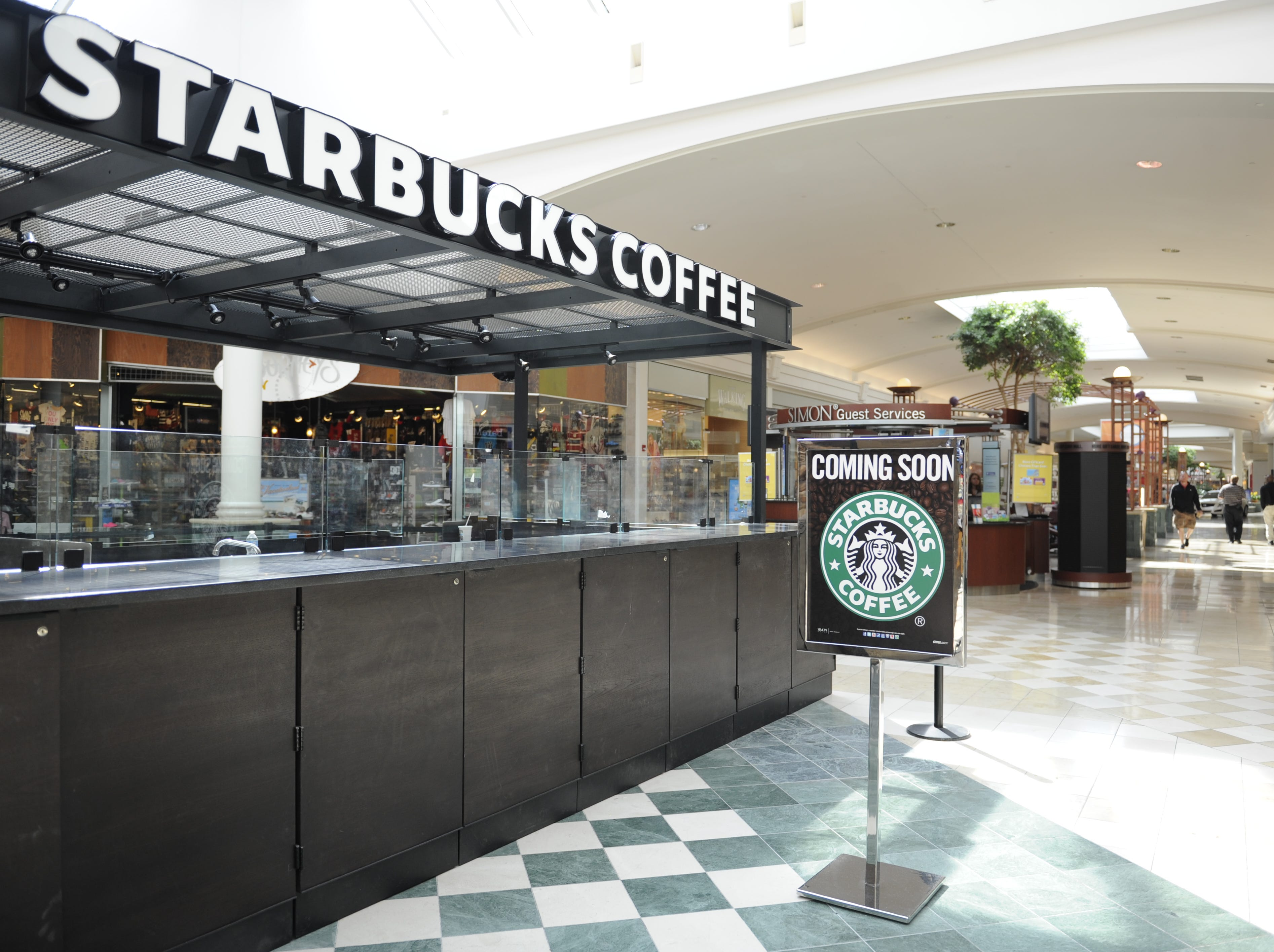 Starbucks Coffee is scheduled to open May 3rd in West Town Mall, near the food court.
