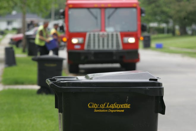 Some Lafayette trash routes will change, starting in February 2019.