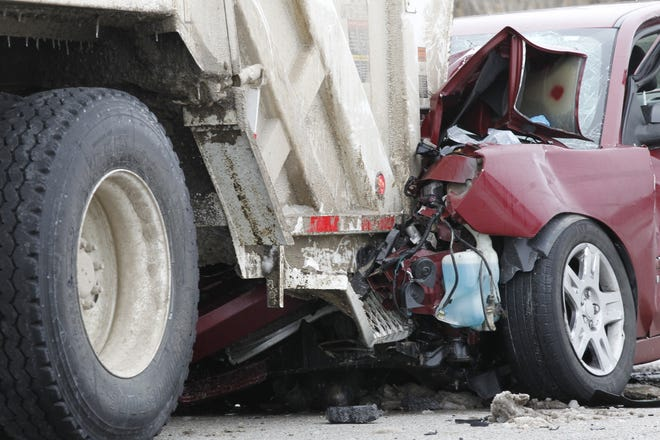 The driver of the red Chevy didn't noticed the trash truck stopped on U.S. 52 and rearended the truck. The man was rushed to a Lafayette hospital, where he was pronounced dead, according to the Tippecanoe County Sheriff's Office.