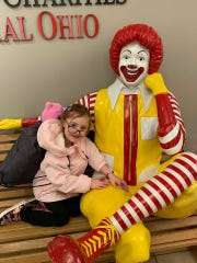 Nevaeh spends a lot of time at Nationwide Children's Hospital in Ohio.