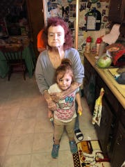 Nevaeh with her grandmother, who passed away last summer.