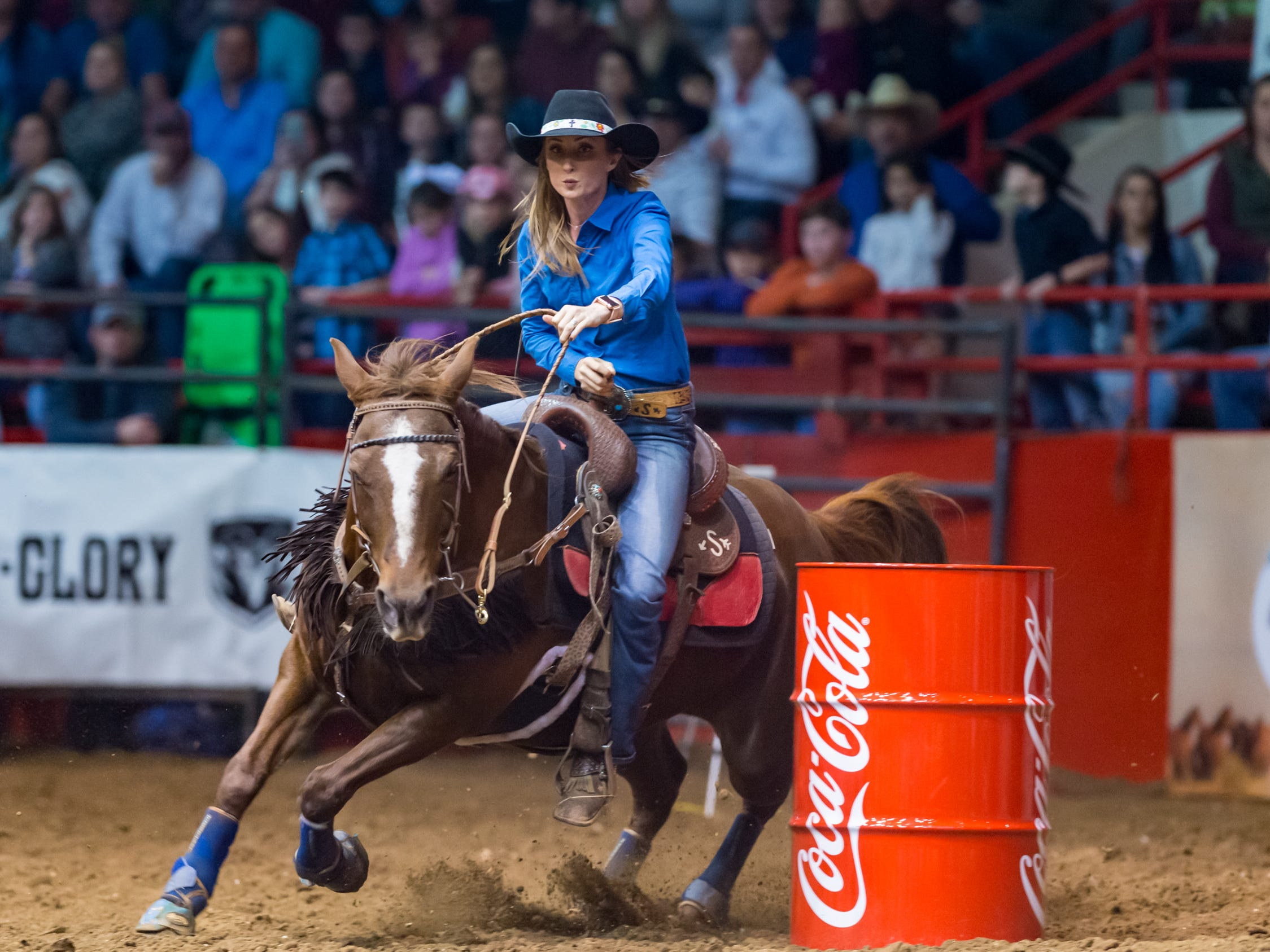 Katie Jo Smart at the Mid Winter Fair and Pro Rodeo at Blackham Coliseum. Saturday, Jan. 12, 2019.