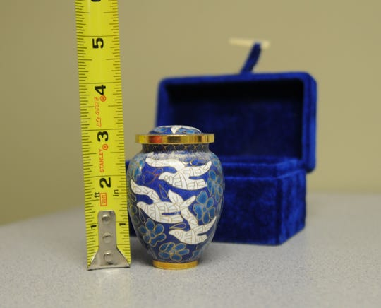 Lexington Police is looking for the owner of this urn that was found in a car.