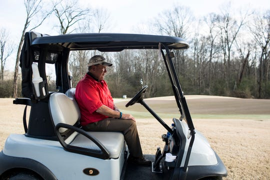 Jan. 15, 2019 - Chuck Kantor pauses near the green while driving around the Germantown Country Club. The Germantown Country Club is closing next month, but a group of members is trying to get together the money needed to purchase the club and keep it open as a golf club.