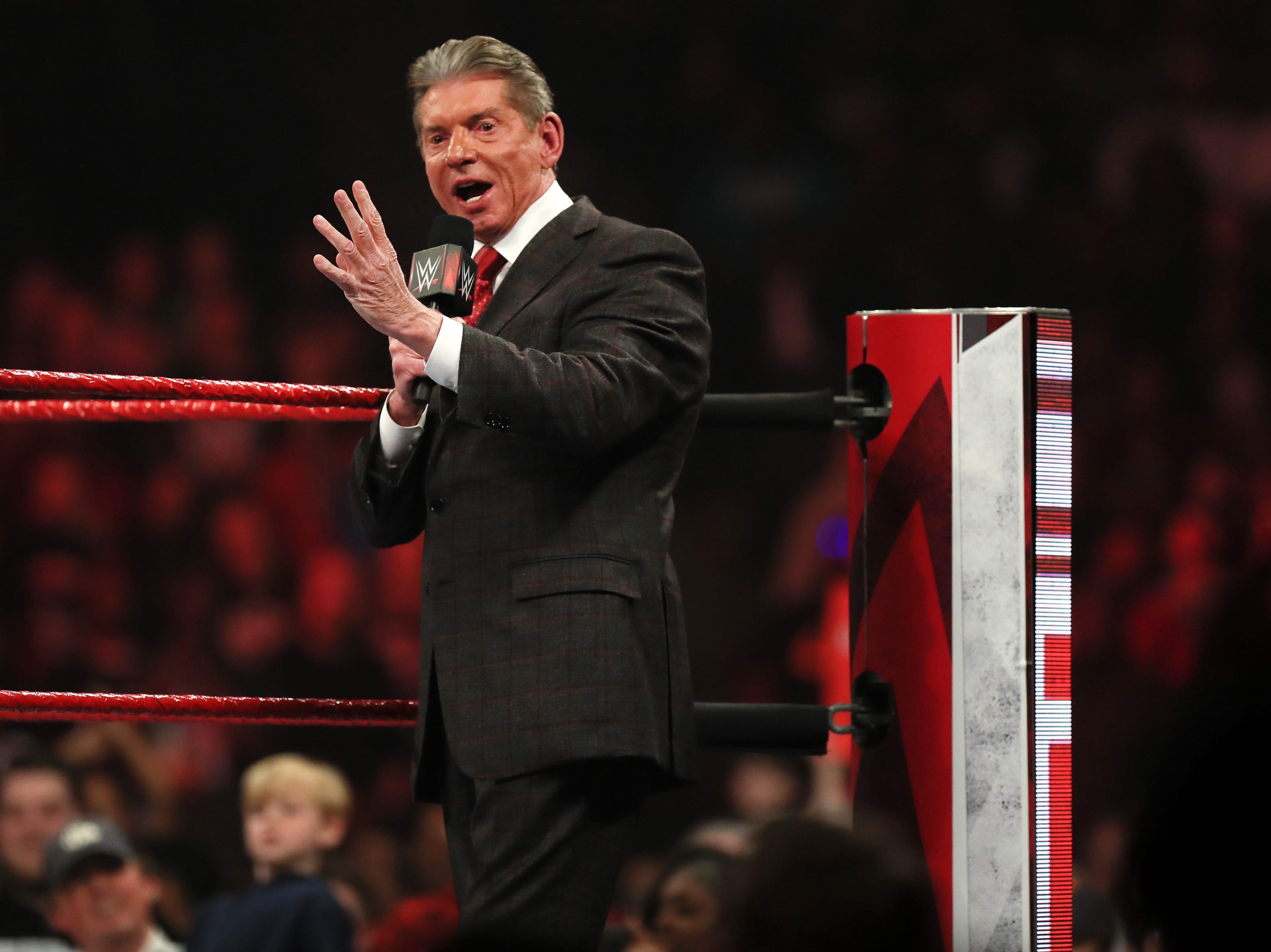 WWE Monday Night Raw at the FedexForum Monday, Jan. 14, 2019.