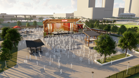 Summerfest  unveiled renderings of its built-from-scratch redesign of the Uline Warehouse stage Tuesday morning. The stage will feature larger capacity and a new permanent bar.