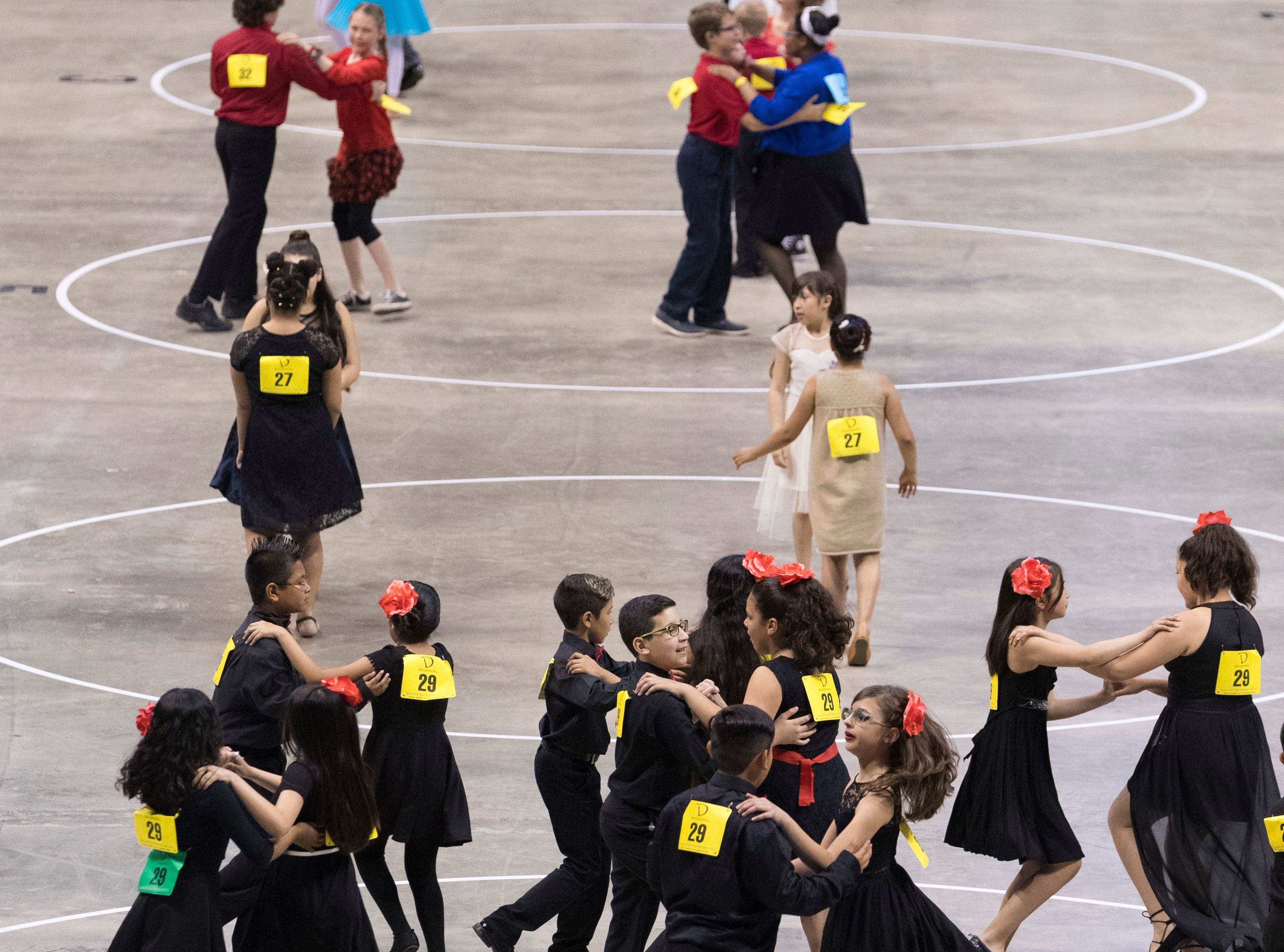 2018: Students salsa during the 12th annual  Danceworks Mad Hot Ballroom and Tap Competition at the BMO Harris Bradley Center.