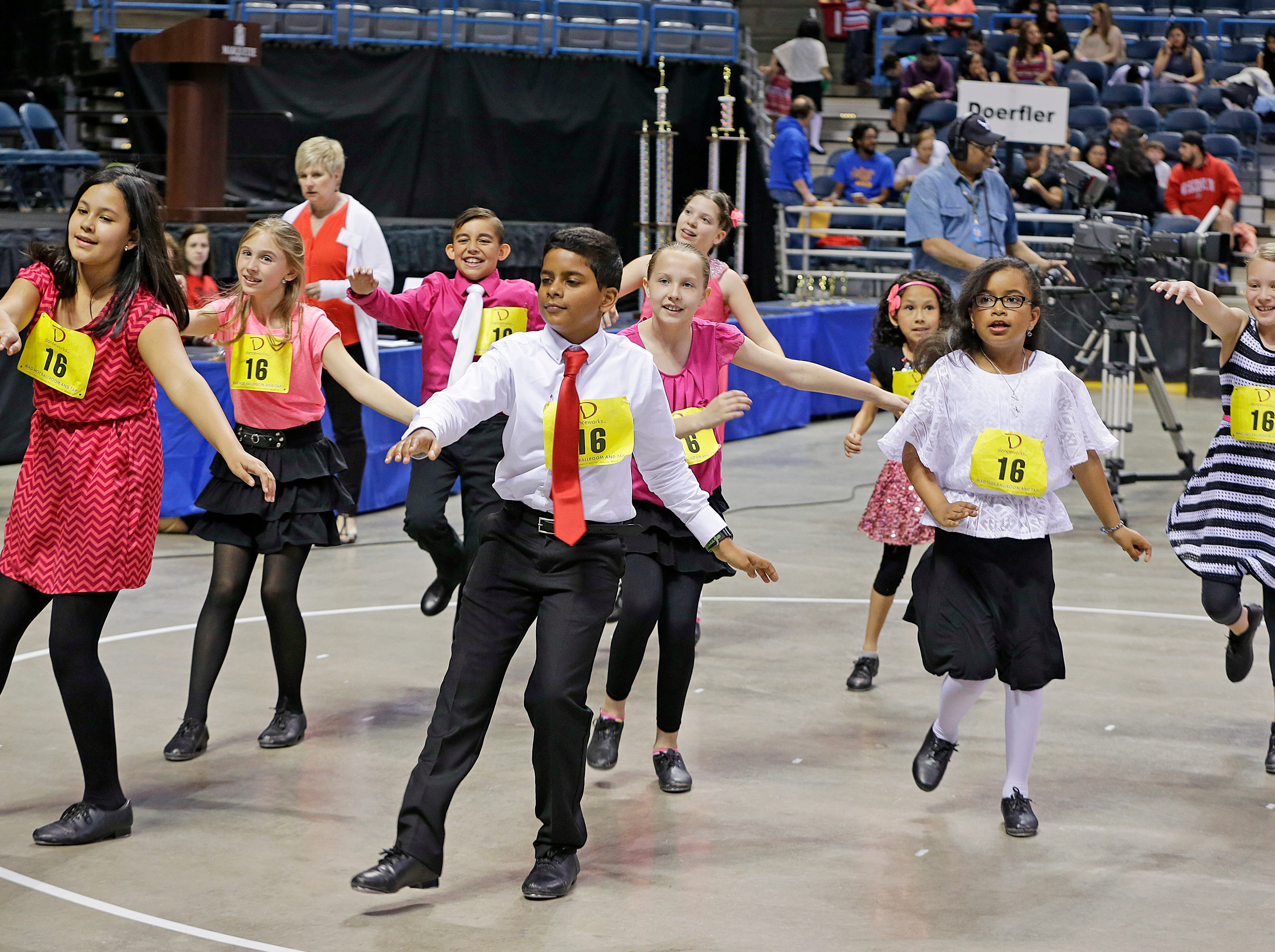 2016: Students from Elm Dale school dance in a Latin style during the annual Mad Hot Ballroom and Tap competition at the BMO Harris Bradley Center.