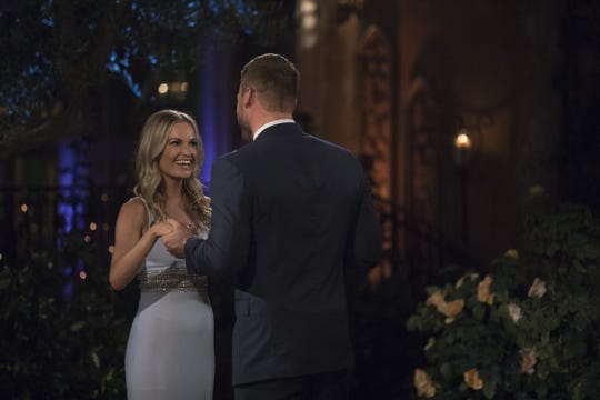 "Annie Reardon holds her own in her meeting in with Colton Underwood on the season premiere of ""The Bachelor."" But she was sent home the second week."