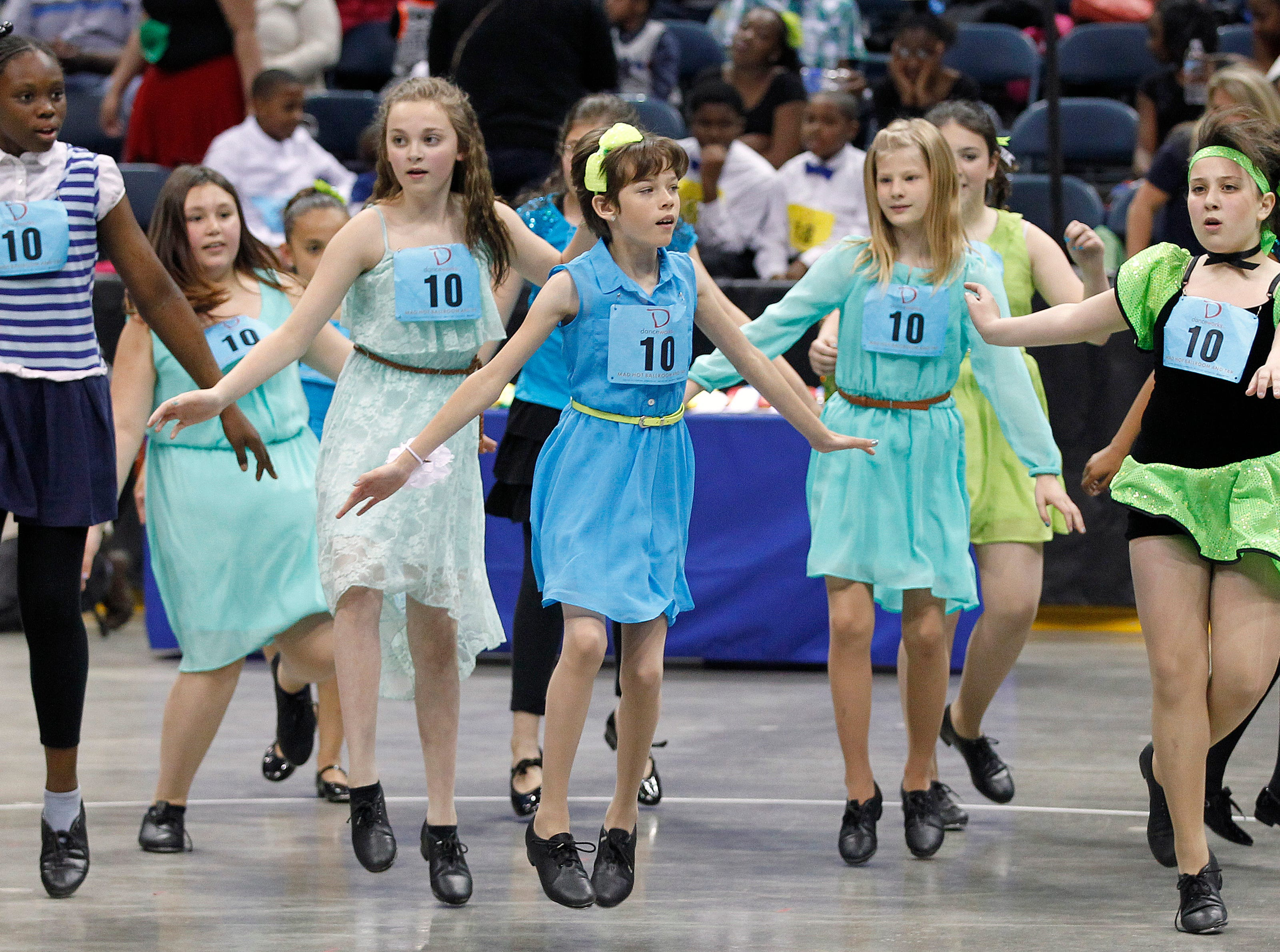 2014: Students from Elm Dale Elementary School dance during the annual Mad Hot Ballroom and Tap competition at the BMO Harris Bradley Center.