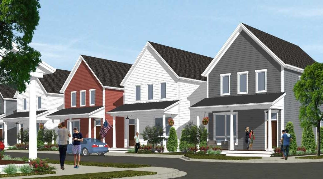 The houses planned for Mequon's Foxtown...