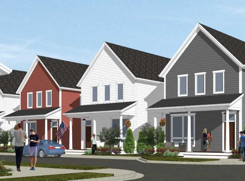 The houses planned for Mequon's Foxtown development will be much smaller, and much closer to one another, than other homes in that sprawling suburb.