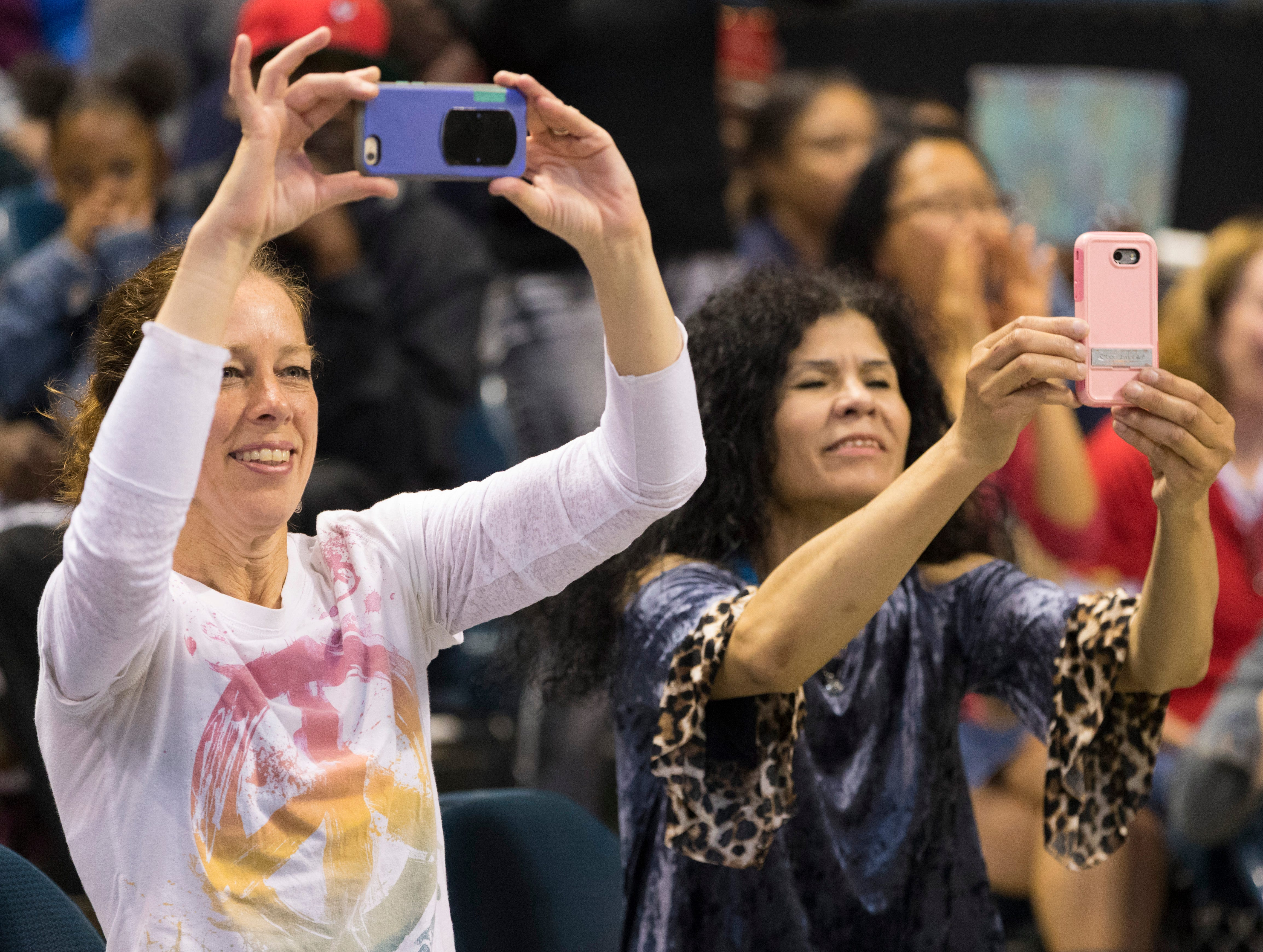 2018: Spectators make photos during the 12th annual Danceworks Mad Hot Ballroom and Tap Competition at the BMO Harris Bradley Center.