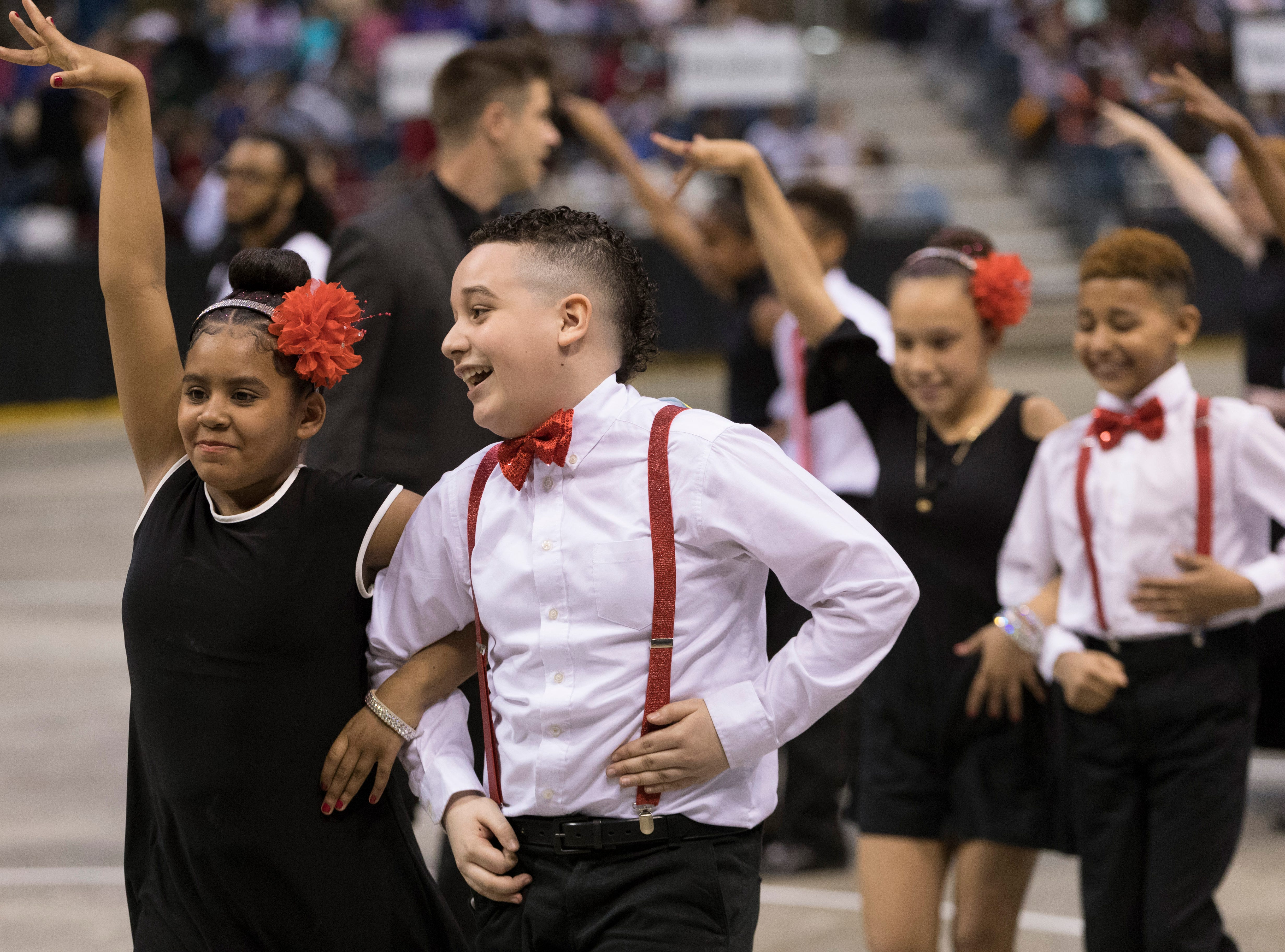 2018: Students take to the floor during the 12th annual Danceworks Mad Hot Ballroom and Tap Competition Saturday, May 19, 2018 at the BMO Harris Bradley Center. More than 1,000 5th and 6th grade students from more than 50 Milwaukee area schools competed and showed off the salsa, tango and swing moves they've been working on since February.