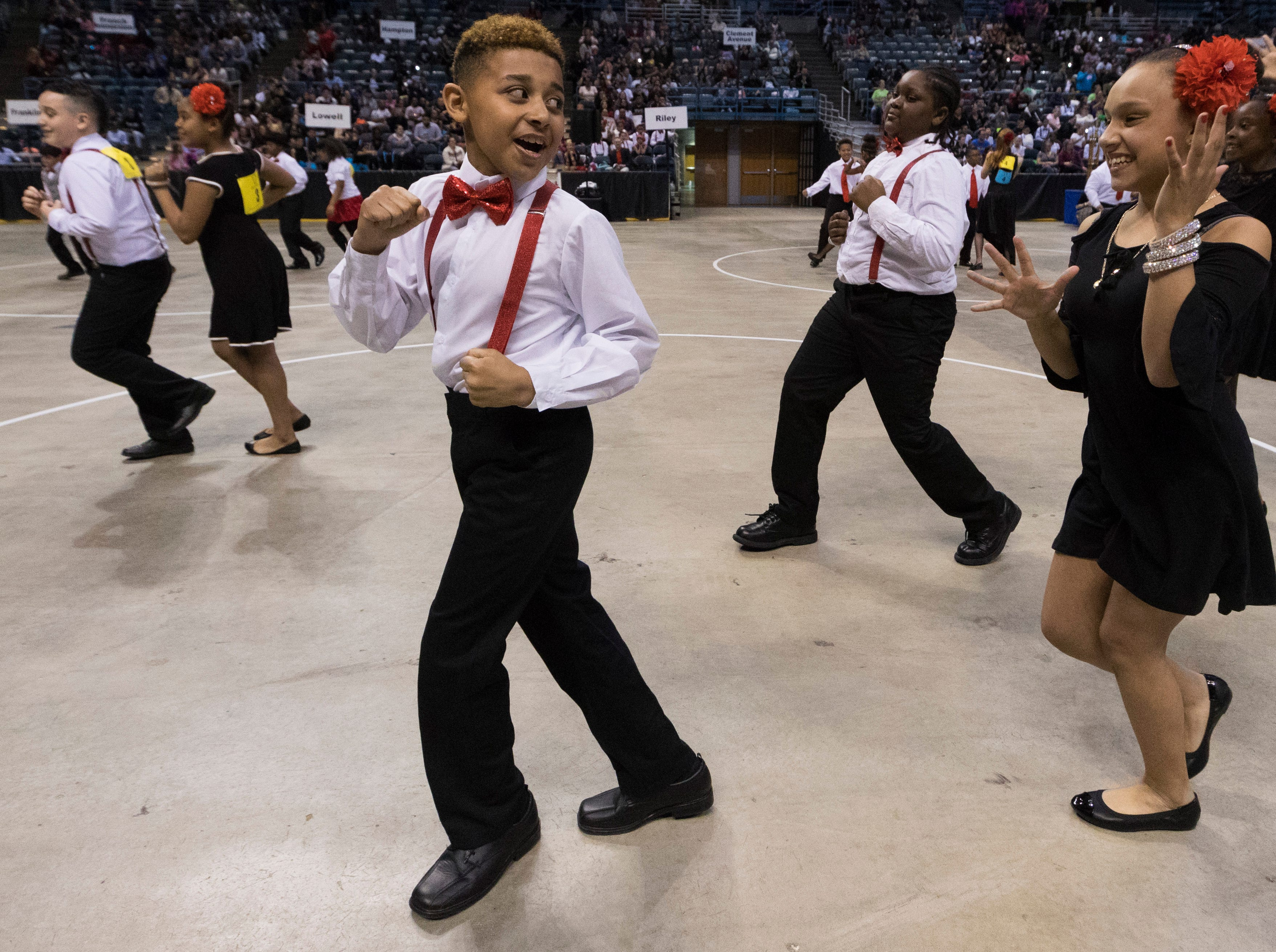 2018: Students from Riley Elementary School salsa during the 12th annual  Danceworks Mad Hot Ballroom and Tap Competition at the BMO Harris Bradley Center.