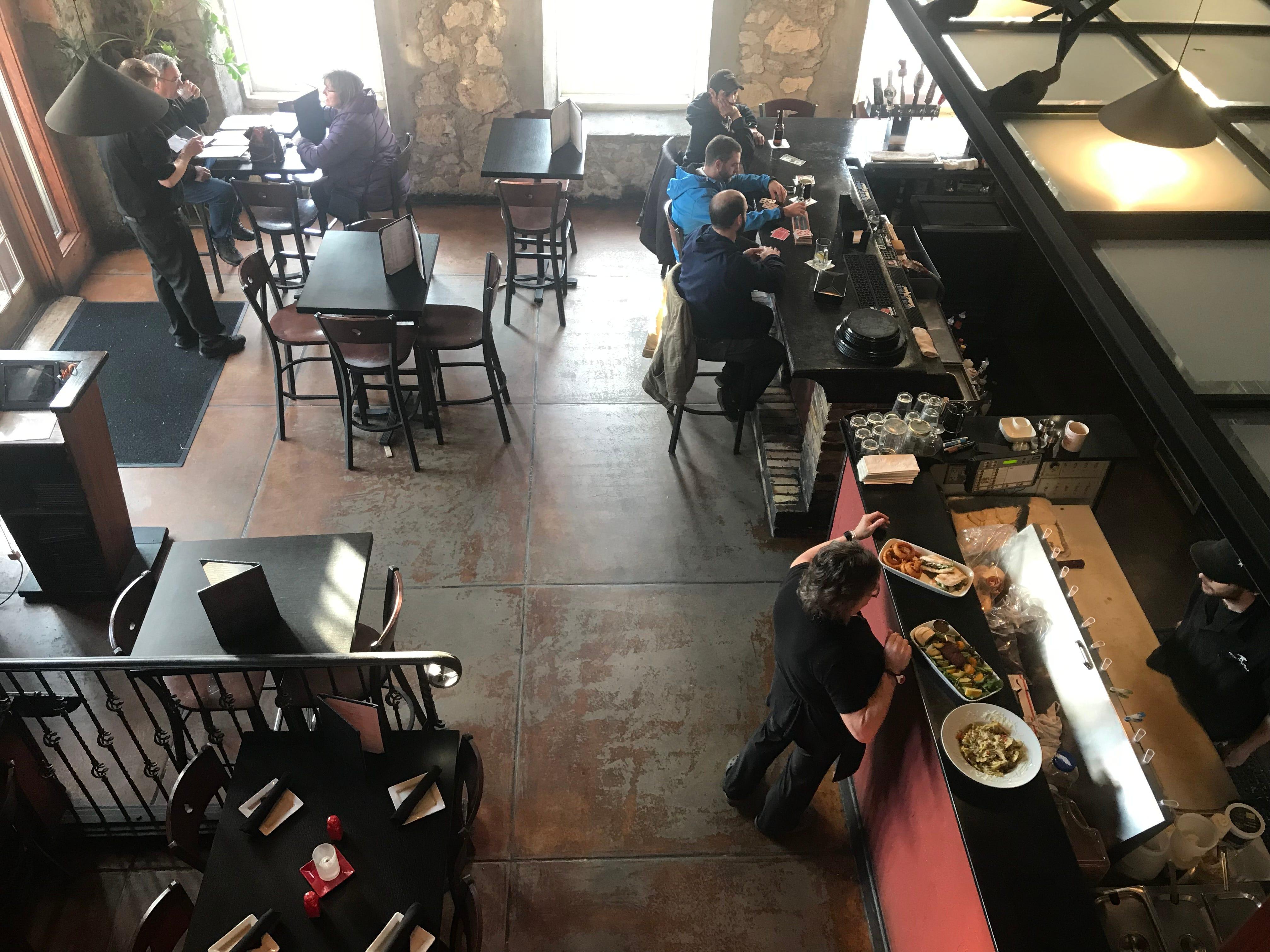 Anvil Pub & Grille includes a mezzanine level added
