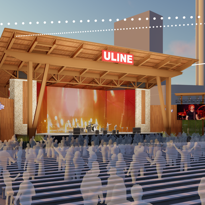 Check out the renderings for Summerfest's redesigned Uline Warehouse stage