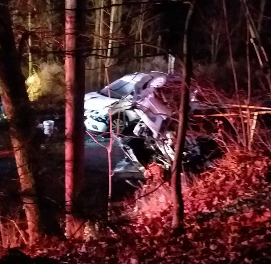 Three cars were involved in a crash that resulted in serious injuries in Jefferson Township Jan. 14, 2019.
