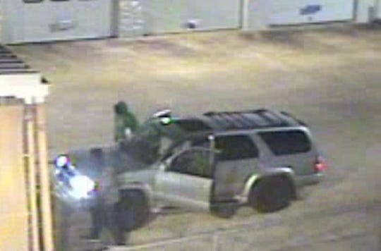 Two men are wanted in battery burglaries in six cities across the River Region.
